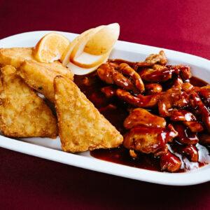 Mézes chilis csirkemell csíkok